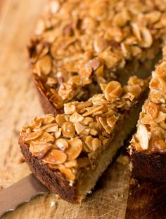 Make this extraordinary cake topped with crunchy caramelized almonds to wow your friends and family. One of my favorite recipes...ever!