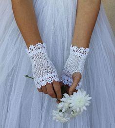 Cotton Gloves, Lace Gloves, Fingerless Gloves, Crochet Gloves, Crochet Mittens, Crochet Lace, Bride Gloves, Wedding Gloves, Tattoo Dentelle