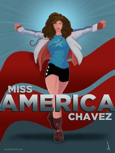 Miss America Chavez from Kieron Gillen and Jamie McKelvies Young Avengers, possibly my favorite comic right now.  This was done entirely in Manga Studio 5 - the first piece Ive done in the new verison. And holy schnikies, is it ever incredibly sweet.