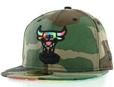 Chicago Bulls Camo Color Swirl 59Fifty Fitted Baseball Cap by NEW ERA x NBA