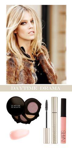 "Beautiful makeup: Nars ""Turkish Tempest"" lipgloss, Le Metier de Beaute eye kit, Armani mascara"