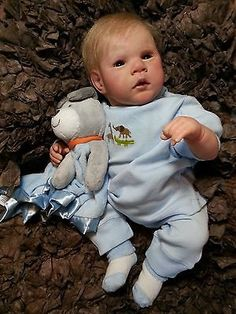 Adorable Reborn Baby Boy Everett. OOAK, Very Detailed And Life Like.