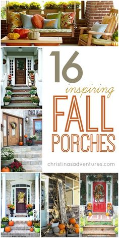 16 Inspiring Fall Porches! #fall #frontporch #outdoors