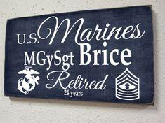 Marines Retirement Sign - Marine Corp Military Retirement - Armed Forces Retiree - Military Retirement Gift - USMC License number 41421