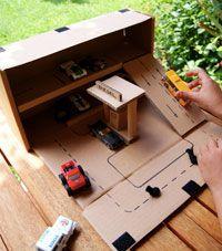 kartonnen garage maken