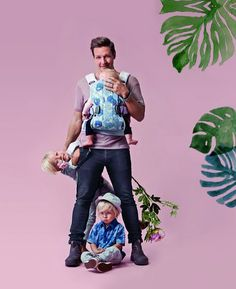 """Bei der Entwicklung der Frühjahrskollektion """"#dadstories"""" hat BabyBjörn ganz normalen Vätern nicht nur zugehört, sondern auch sechs davon mit ihren Kindern eingeladen, um die neuen Modelle zu präsentieren."""