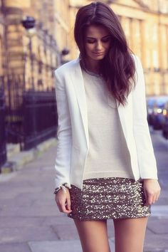 Sequins Skirt Withe coat Just For Ladies Click The Picture To See More