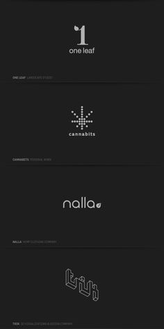 Just logos by Črtomir Just, via Behance