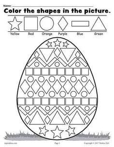 Easter Math Worksheets Kindergarten Easter Coloring Pages for Grade Easter Worksheets Nd Easter Worksheets, Shapes Worksheets, Printable Worksheets, Free Printable, Number Worksheets, Coloring Worksheets, School Worksheets, Alphabet Worksheets, Pattern Worksheet
