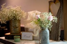 Western Barn Wedding Centerpieces