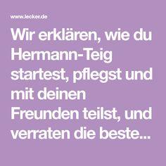 Wir erklären, wie du Hermann-Teig startest, pflegst und mit deinen Freunden teilst, und verraten die besten Rezepte für Hermann-Kuchen und Brot.
