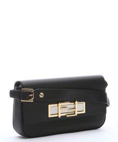 4de1087620 Fendi Black Calfskin  3baguette  Convertible Shoulder Bag