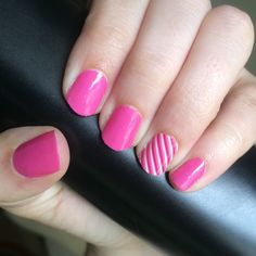 Bubble Gum and Skinny Pink Jamberry Nail Wraps  http://mckennasommers.jamberrynails.net