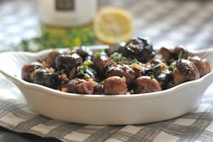 The Lucky Penny Blog: Wine and Thyme Mushrooms