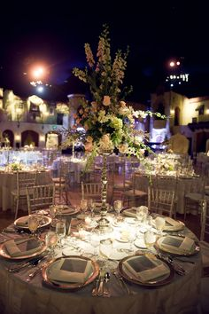 Tall Elegant Wedding Centerpiece