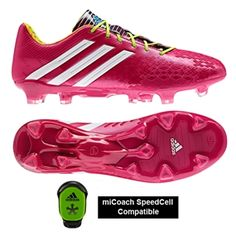 check out bf0f4 6378d SALE  129.95 - Adidas Soccer Cleats   FREE SHIPPING   F32553   Adidas  Predator LZ TRX FG Soccer Cleats (Vivid Berry Running White Solar Slime)    Adidas ...