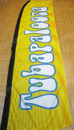 2 Swooper Flutter Feather Flags plus 2 Poles /& Ground Spikes QUALITY USED CARS Checkered Blue Yellow Black