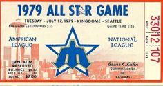 MLB All Star game 1979 stub
