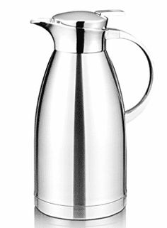 Coffee Thermos - 64 Oz Coffee Thermal Carafe with Lid - Stainless Steel Coffee Thermos Carafe by Hiware - Double Walled Vacuum Carafe Insulated Coffee Thermos, Coffee Brewer, Coffee Drinks, Coffee Cups, Coffee Health Benefits, Coffee Is Life, Coffee Machine, Best Coffee, Carafe