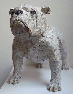 "Claudio Locatelli, Bull Dog, 2012, Mixed Media, 27½"" x 11¾"" x 16½""   www.axelle.com"