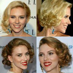 Scarlett Johansson vintage/retro short hair updo for prom
