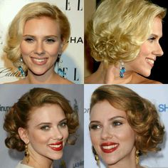 Scarlett Johansson vintage/retro short hair updo for prom
