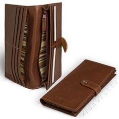 Toscanella Italian leather bi fold credit card wallet