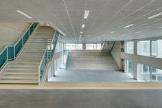 Wiel Arets Architects has completed an academic campus in Hoogvliet, Rotterdam, comprising six concrete and glass buildings with subtle surface patterns. Contemporary Architecture, Architecture Details, Interior Architecture, Interior And Exterior, Rotterdam, Dance Rooms, Glass Building, College Campus, Dezeen
