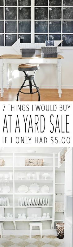 7 Things I Would Buy At a Yard Sale If I Only Had $5.00