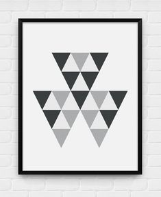 Geometric Triangles  Printable Poster  by BlackAndWhitePosters, $5.00