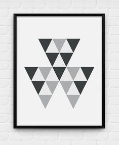 Geometric Triangles - Printable Poster - Digital Art, Download and Print JPG