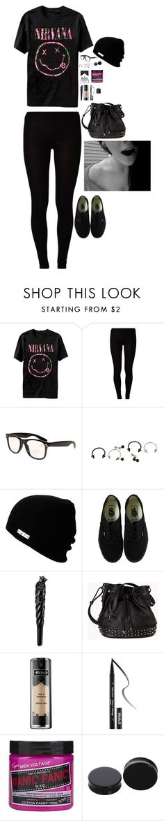 """Wanting To Be Someone Else Is A Waste Of The Person You Are"" by tellthewolvesimhome ❤ liked on Polyvore featuring Majestic, Neff, Vans, Anna Sui, CO, Forever 21, Kat Von D and Essie"
