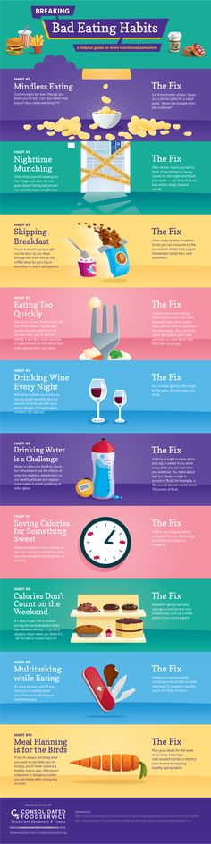 Breaking Bad Eating Habits Infographic  Make healthy decisions easier with this handy #infographic about eating habits