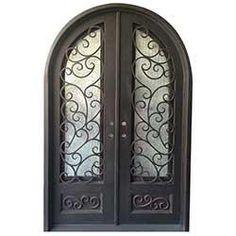 BuildDirect®: Grafton Exterior Wrought Iron Glass Doors Fern Collection
