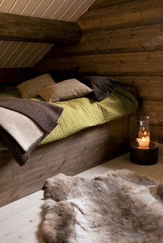 Take a nap in this cozy nook. The Lyngen Lodge, a Norwegian backcountry adventure hub. Seriously looks so comfy