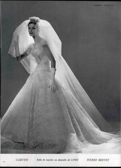 Bridal Outfit by Carven 1960