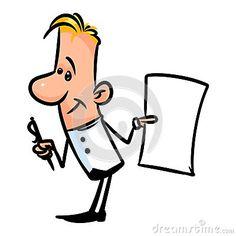Man Paper notebook cartoon illustration