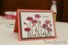 IC398 | Pleasant Poppies by PeaceLoveJoy - Cards and Paper Crafts at Splitcoaststampers