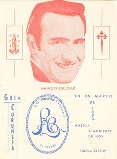 A Coruña : S. S-Marín Pizarro (Pardo Bazán, 27-7º), 1969-1971? Manolo Escobar, Director, Musica