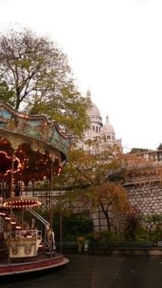 Paris -- carousel below the sacre coeur