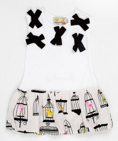 Take a look at this Bow Front Birdcage Dress - Infant, Toddler & Girls  by Stock the Closet: Kids' Apparel on #zulily today!