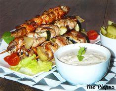 Szaszłyki z piekarnika Chicken Wings, Shrimp, Grilling, Food And Drink, Meat, Vegetables, Cos, Crickets, Vegetable Recipes