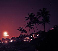Glorious Kapalua! Moon over the Ironwoods...