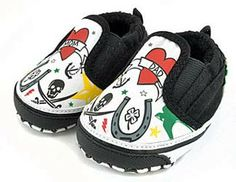 punk baby nursery | Punk Rock N Roll Baby Shoes Tattoo Slip Ons - Jaminga