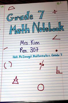 Beginning Your Interactive Notebook-math