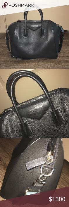 Givenchy Medium Black Antigona 100% authentic sorry no dustbag sku# written on inside pocket to prevent retail returns boning on back handle broken does not affect usage of bag pre owned Givenchy Bags Satchels