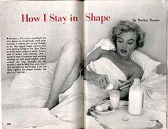 How Marilyn stayed in shape (it wasn't low-fat).
