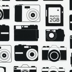 Cameras in Black Boys Toys by Print and Pattern for by FabricBubb, $9.00