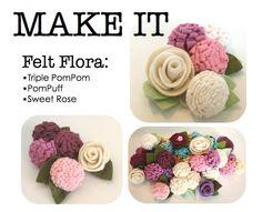 MAKE IT. Felt Flora. PDF Booklet. $6.00, via Etsy.