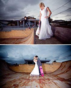 skateboarding couple - love it!